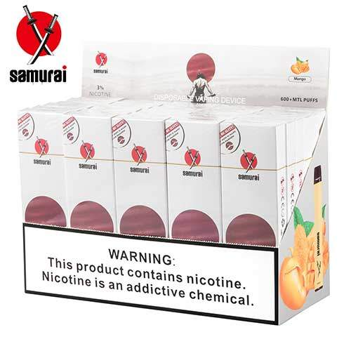 Samurai Disposable Vape Kit - Mango (3 Pieces/Pack)