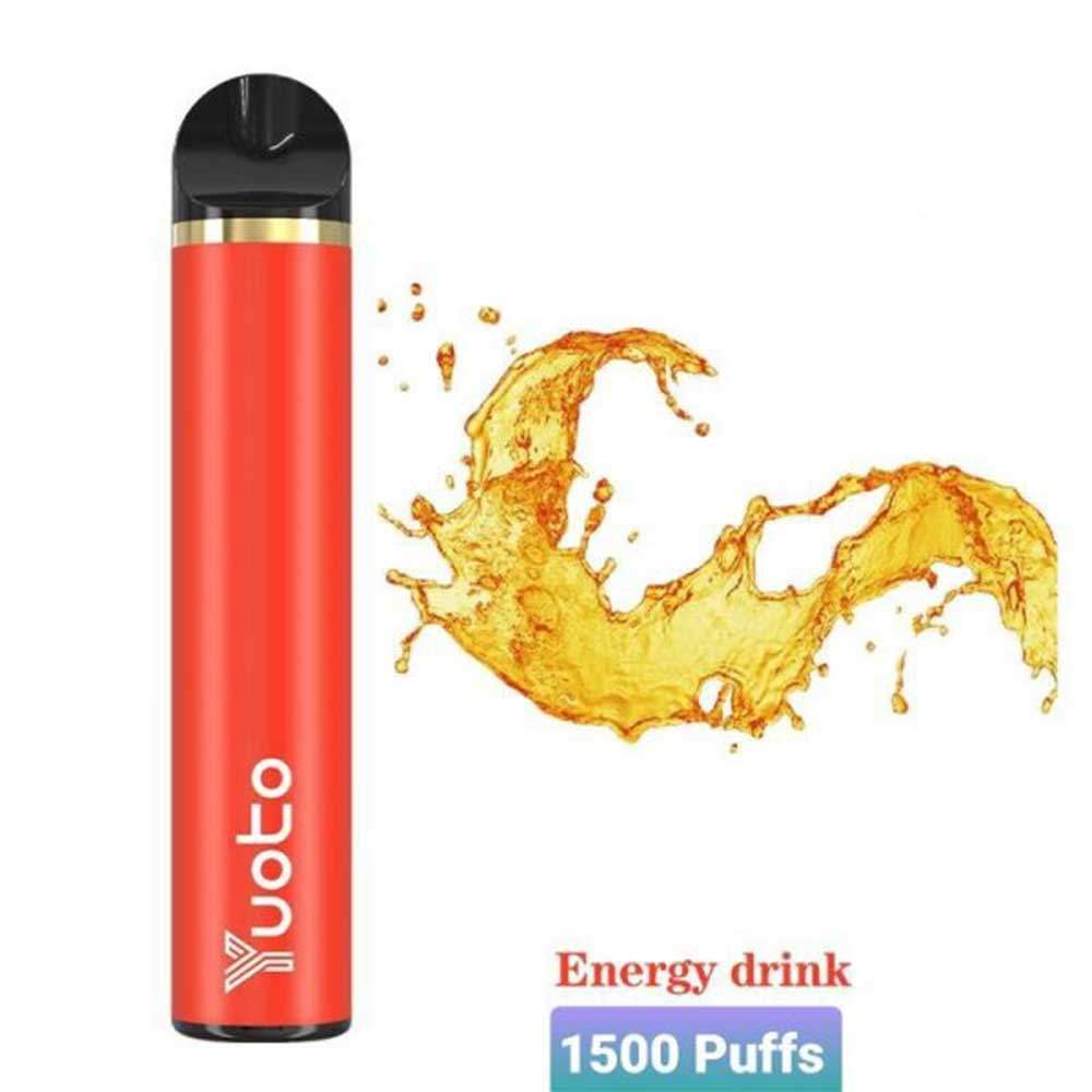 YUOTO DISPOSABLE VAPE  PODS STARTER KIT 900MAH 1500 PUFFS - ENGERY DRINK