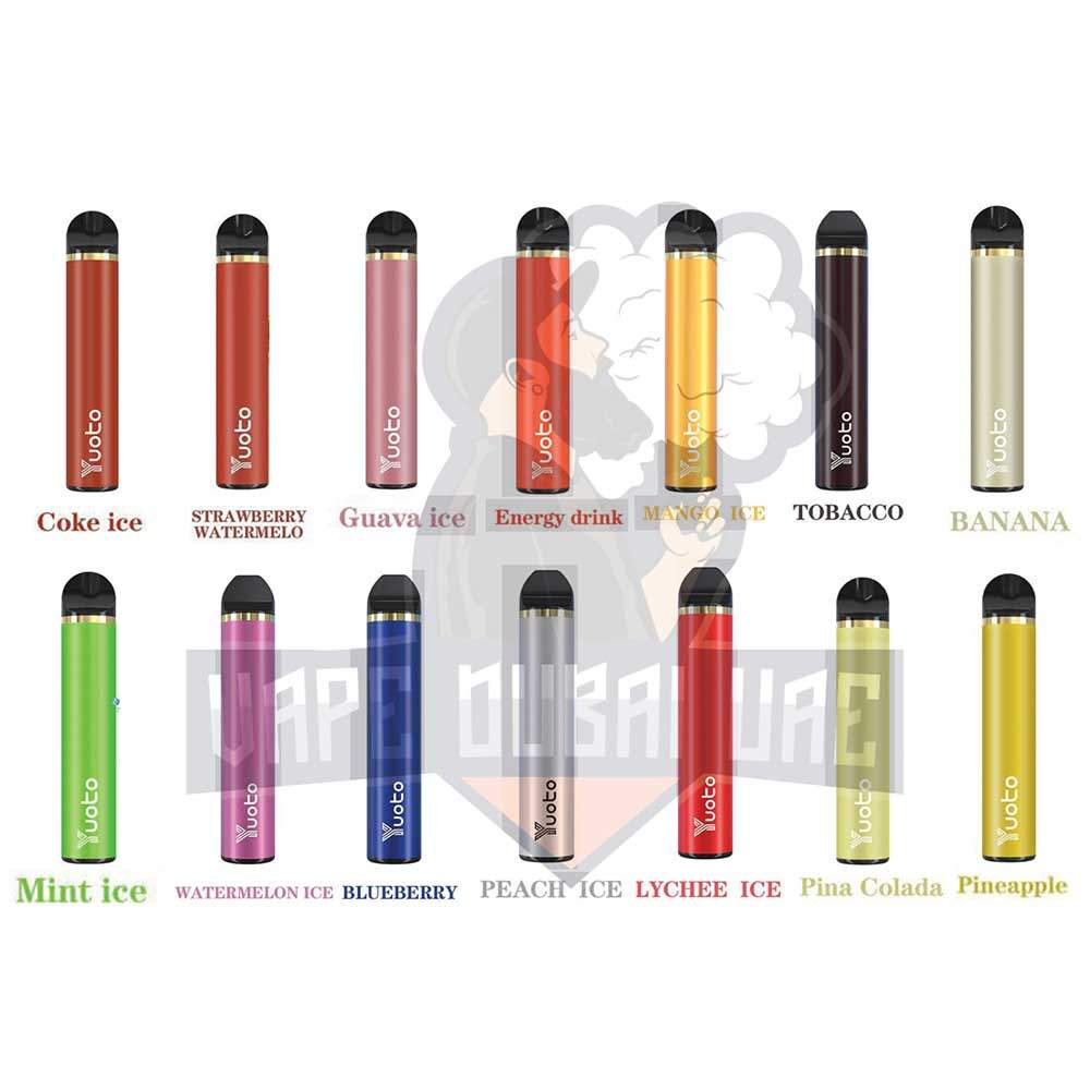 YUOTO DISPOSABLE VAPE  PODS STARTER KIT 900MAH 1500 PUFFS - ICE COKE