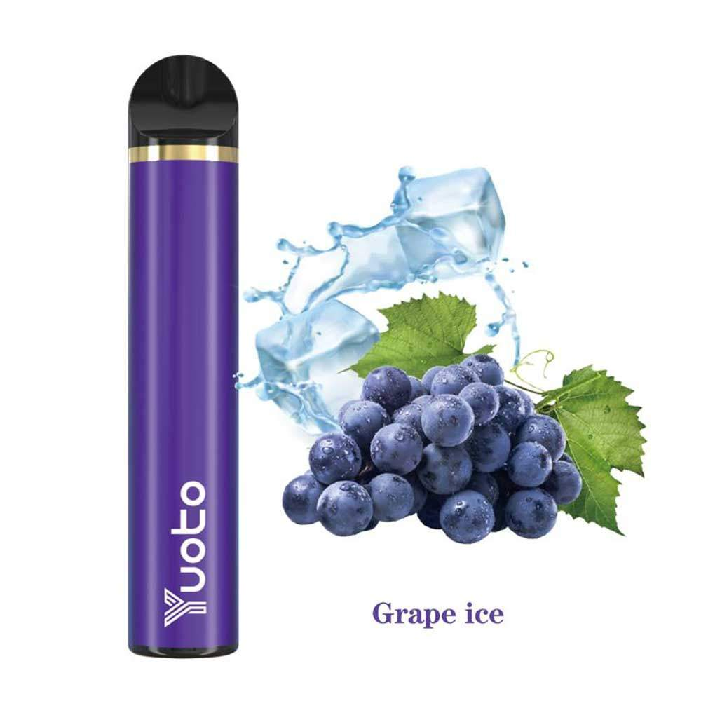 YUOTO DISPOSABLE VAPE  PODS STARTER KIT 900MAH 1500 PUFFS - GRAPES ICE