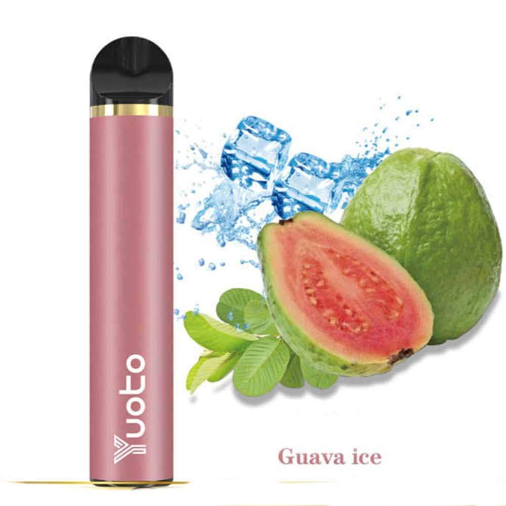 YUOTO DISPOSABLE VAPE  PODS STARTER KIT 900MAH 1500 PUFFS - GUAVA ICE