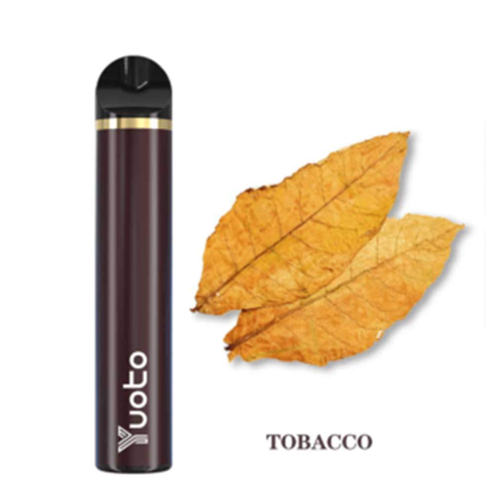 YUOTO DISPOSABLE VAPE  PODS STARTER KIT 900MAH 1500 PUFFS - TOBACCO
