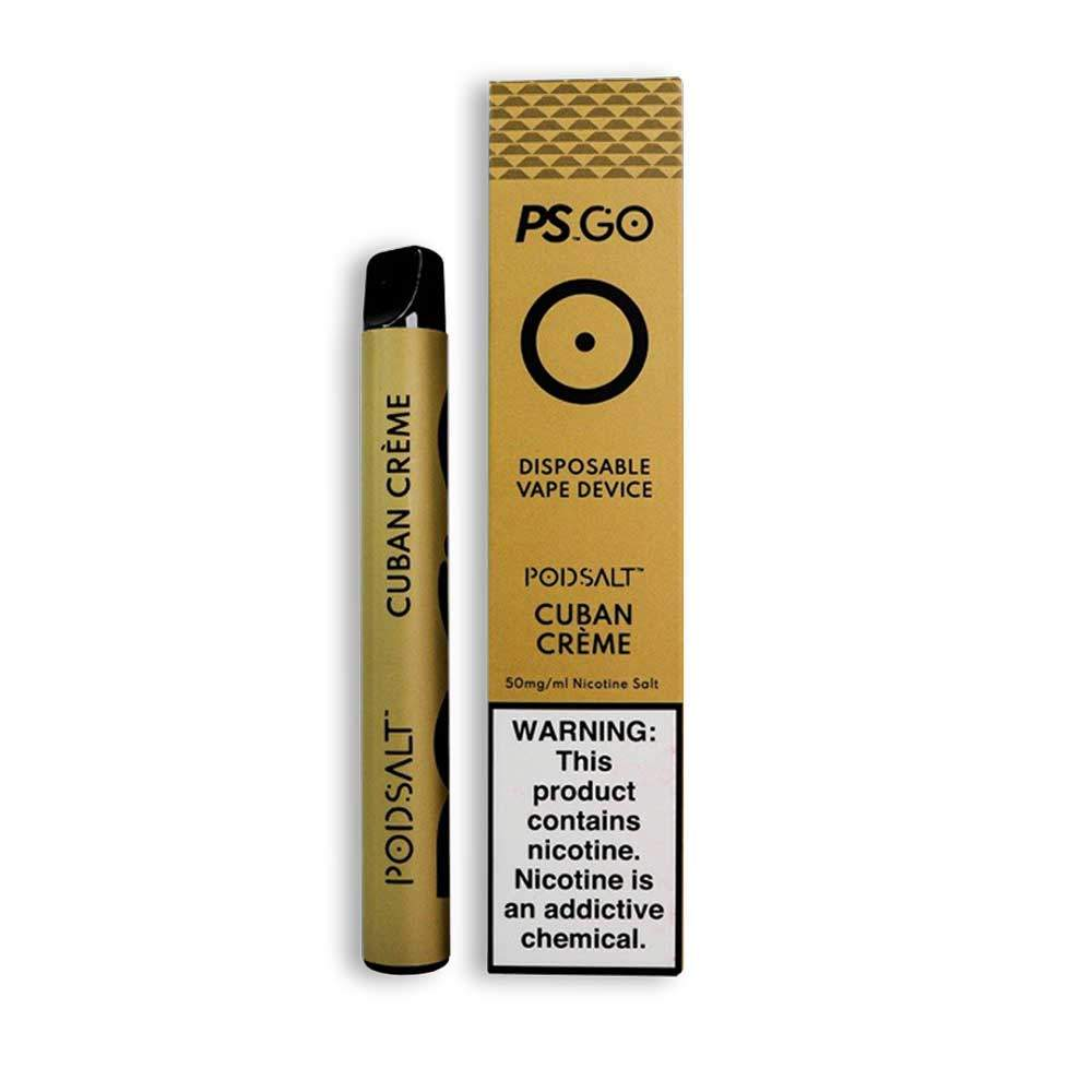 PS GO DISPOSABLE VAPE DEVICE - CUBAN CREME