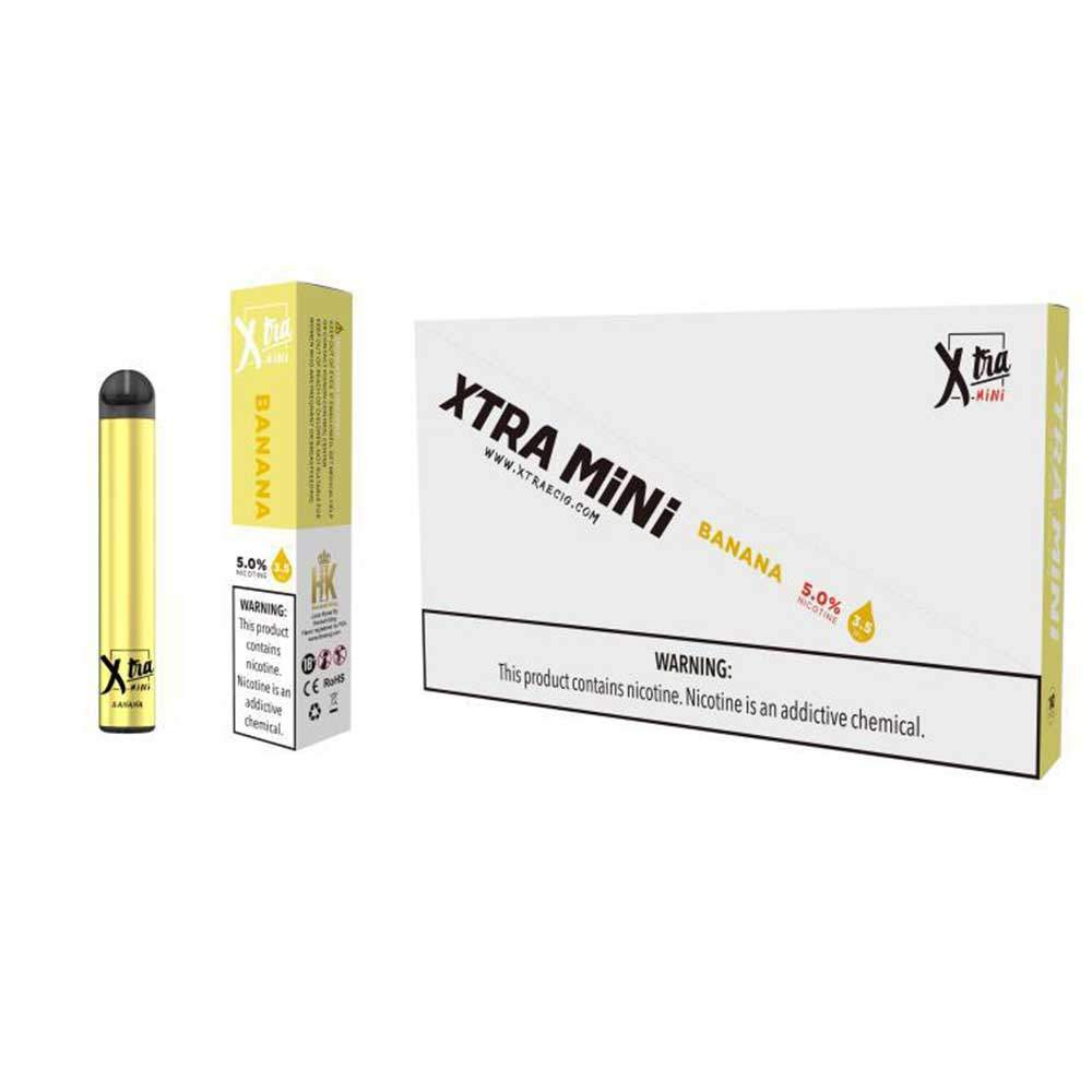 XTRA Mini Disposable Vaporizer – Banana (800 puffs )
