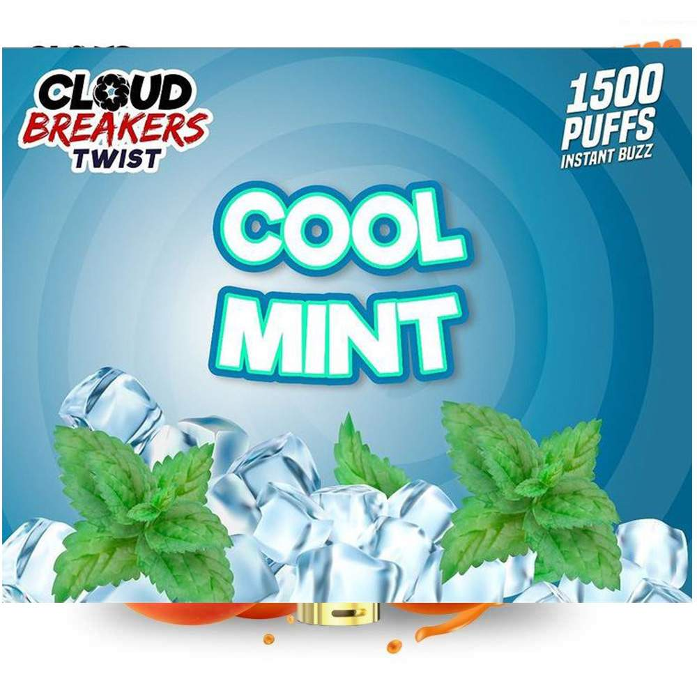 CLOUD BREAKERS TWIST DISPOSABLE DEVICE FLAVOR COOL MINT – 1500 PUFFS