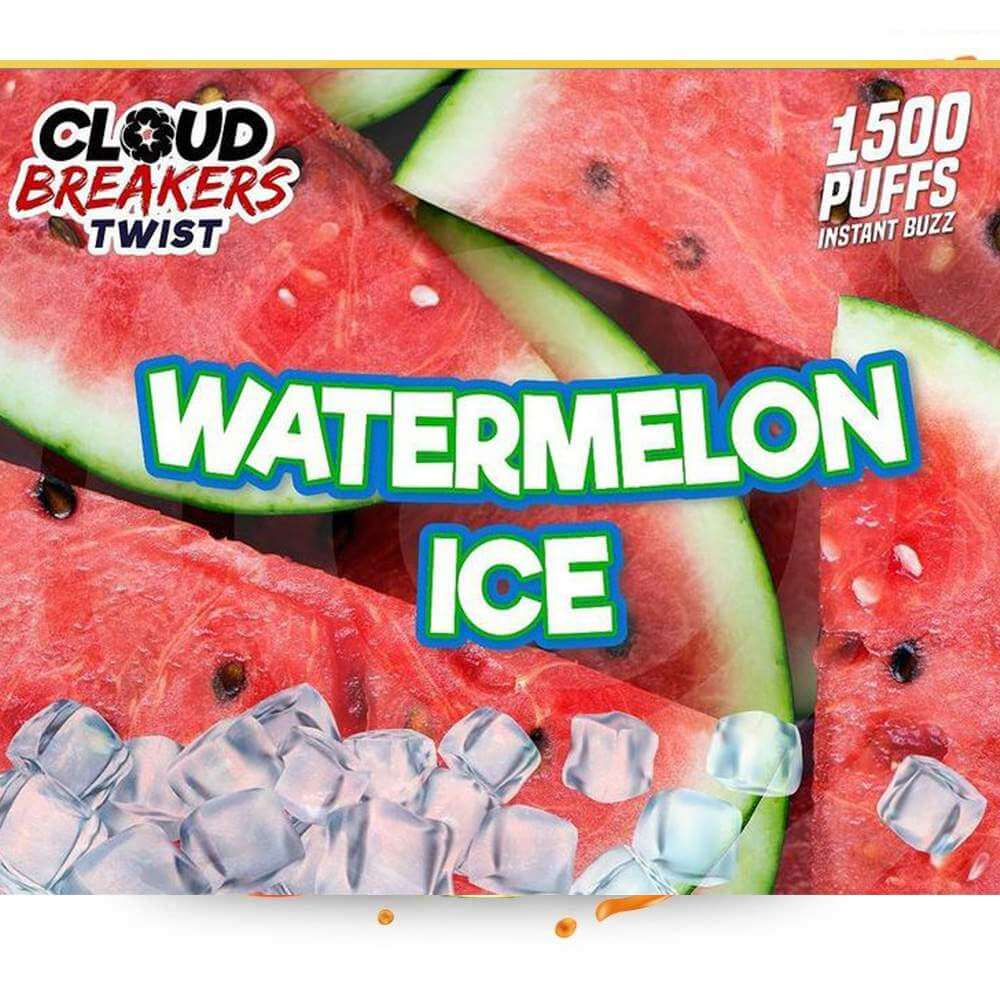CLOUD BREAKERS TWIST DISPOSABLE DEVICE FLAVOR WATERMELON ICE – 1500 PUFFS