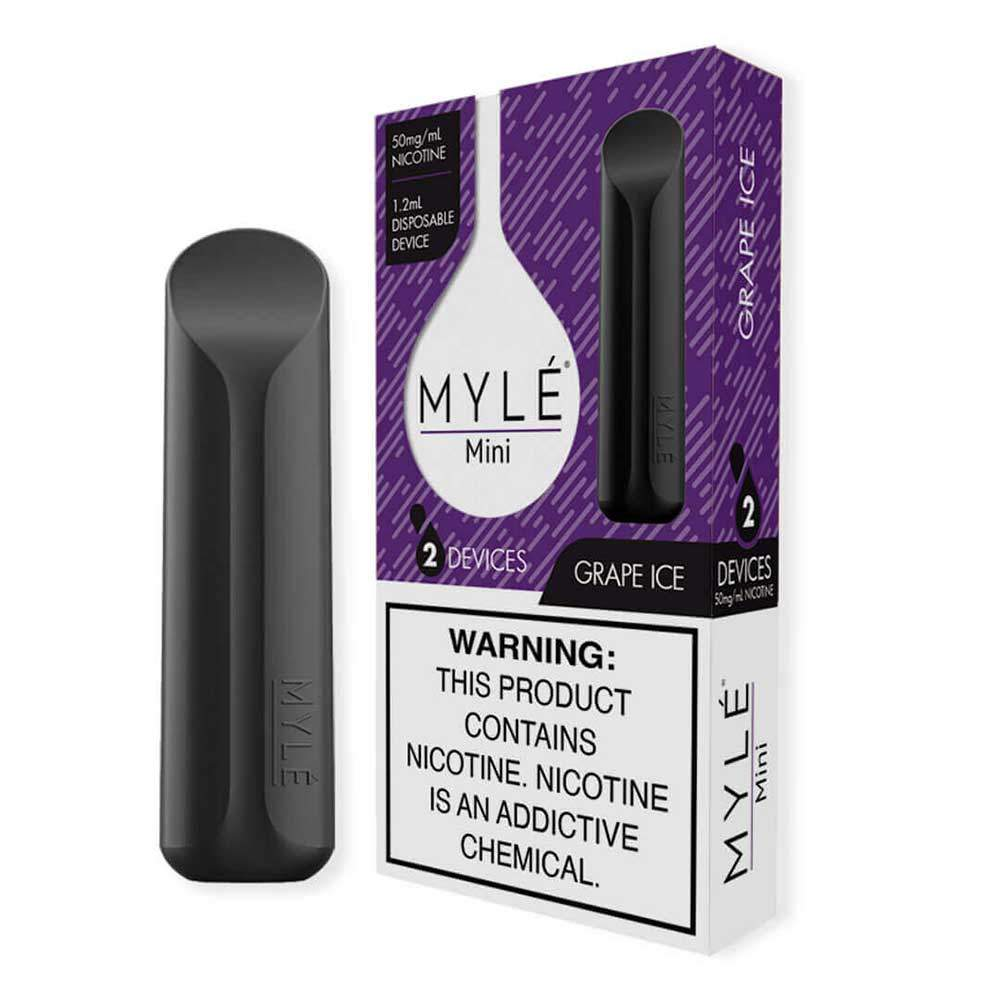 MYLE Mini Iced Disposable Device Flavor - Grapes Ice (2 Pcs Pack)