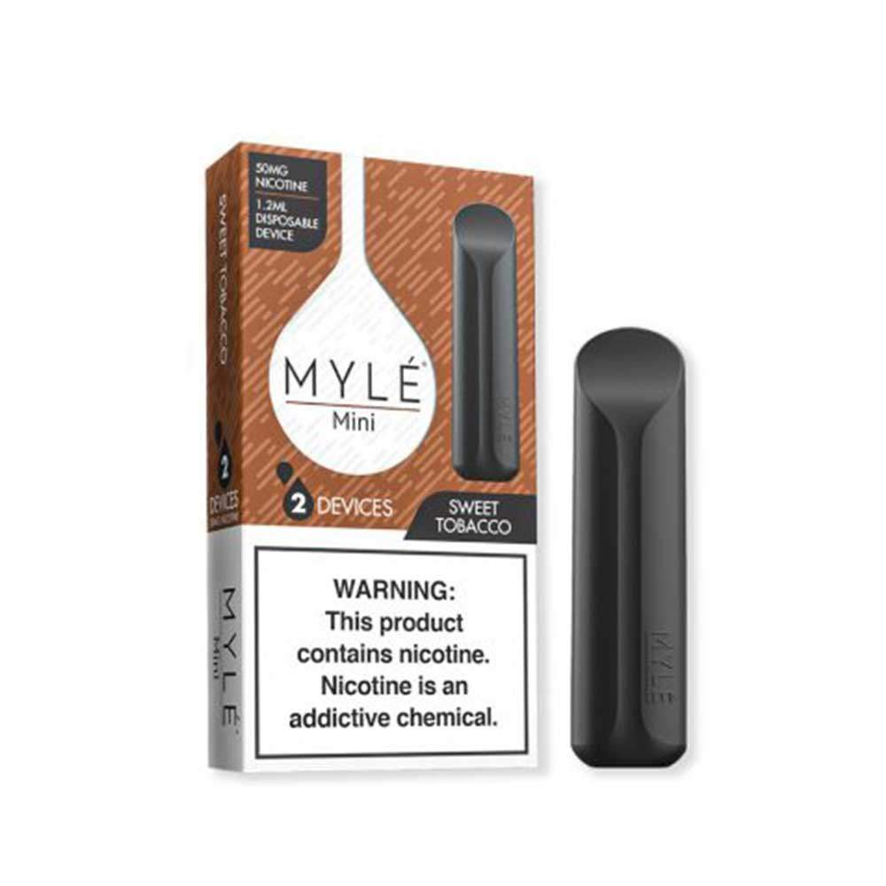 MYLE Mini Iced Disposable Device Flavor - Tobacco (2 Pcs Pack)