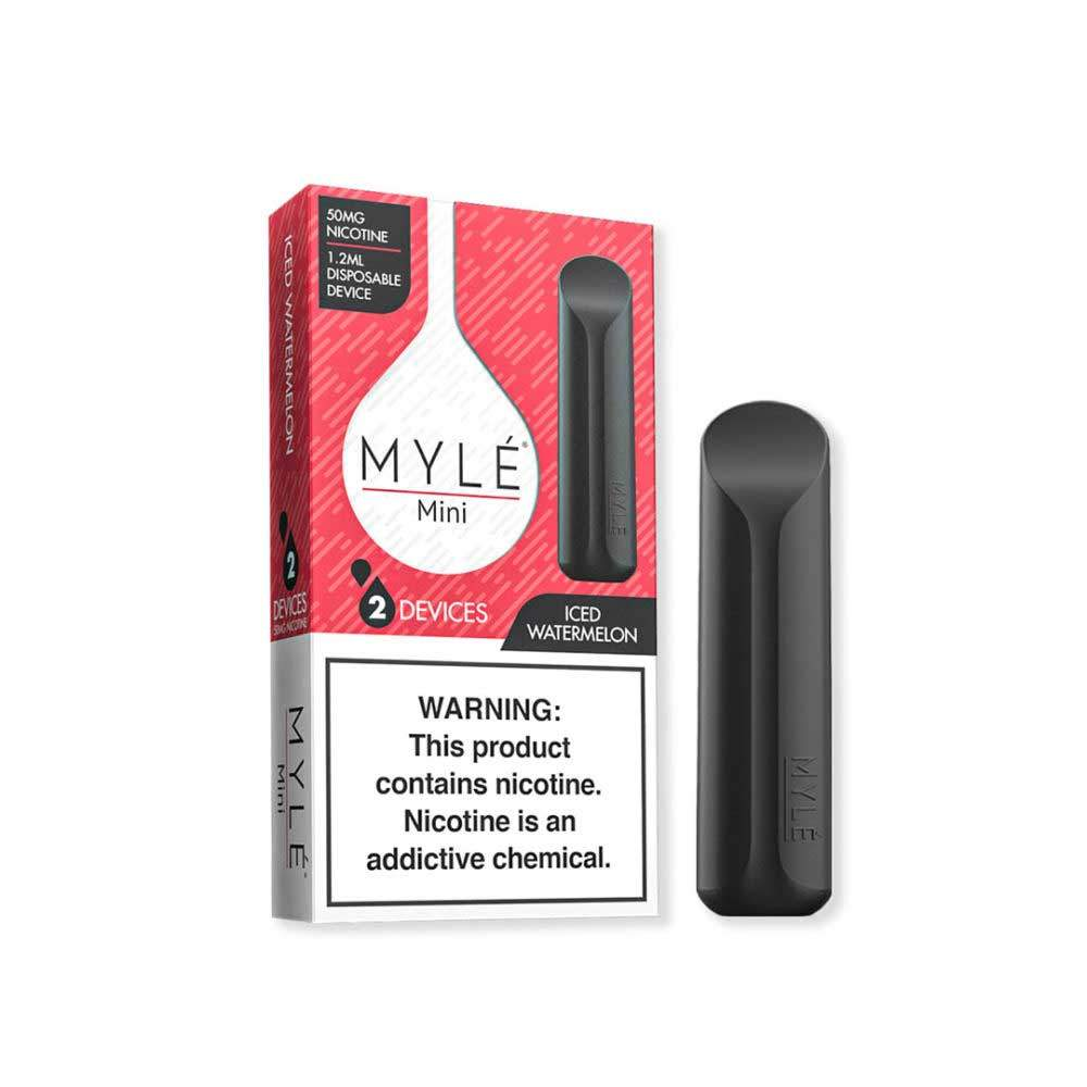MYLE Mini Iced Disposable Device Flavor - Ice Watermelon (2 Pcs Pack)