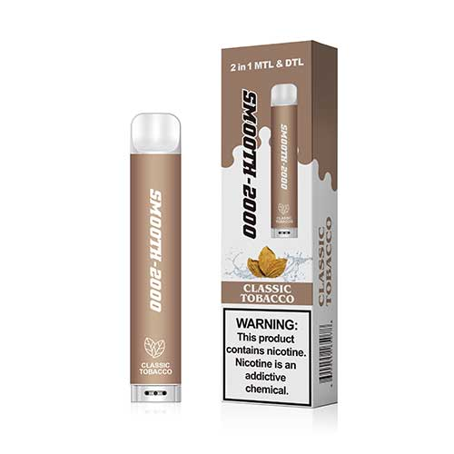 Smooth-2000 – Disposable E-cigarette Classic Tobacco (2000 MTL Puffs / 1 Pc Pack)