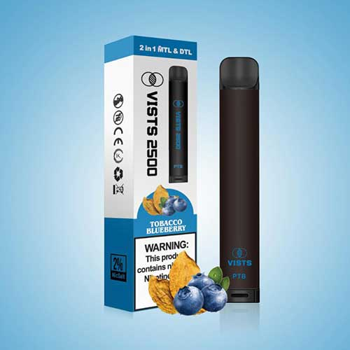 VISTS – Disposable Pods 2500 Puffs - Tobacco Blueberry